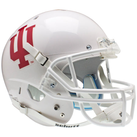 Indiana Hoosiers White Schutt XP Replica Helmet - Alternate 1