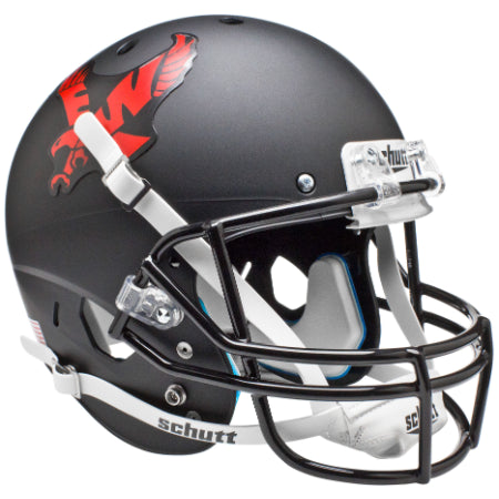Eastern Washington Eagles Matte Black Schutt XP Replica Helmet - Alternate 1