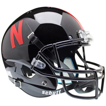 Nebraska Cornhuskers Black Schutt XP Replica Helmet - Alternate 1