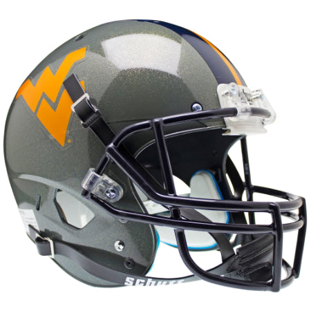 West Virginia Mountaineers Grey Schutt XP Replica Helmet - Alternate 1