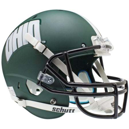 Ohio Bobcats Matte Green Schutt XP Replica Helmet - Alternate 1