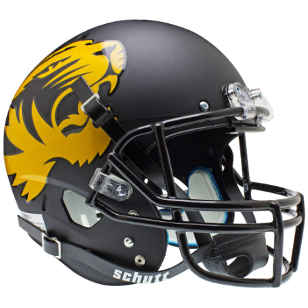 Missouri Tigers Matte Black Large Tiger Schutt XP Replica Helmet - Alternate 1