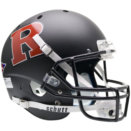 Rutgers Scarlet Knights Matte Black Red R Schutt XP Replica Helmet - Alternate 2