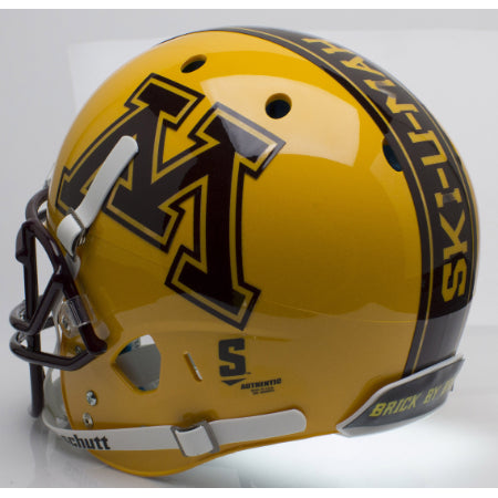 Minnesota Golden Gophers Gold Schutt XP Replica Helmet - Alternate 2