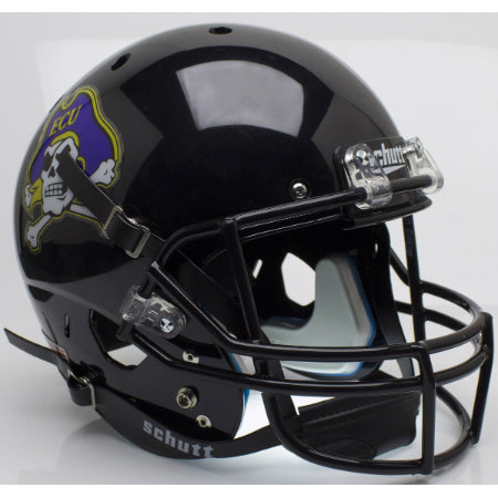 East Carolina Pirates Black Schutt XP Replica Helmet - Alternate 2