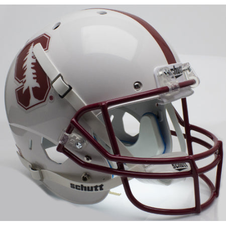 Stanford Cardinal 2015 White Schutt XP Replica Helmet - Alternate 2