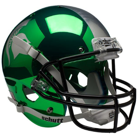 Michigan State Spartans Chrome Schutt XP Replica Helmet - Alternate 2