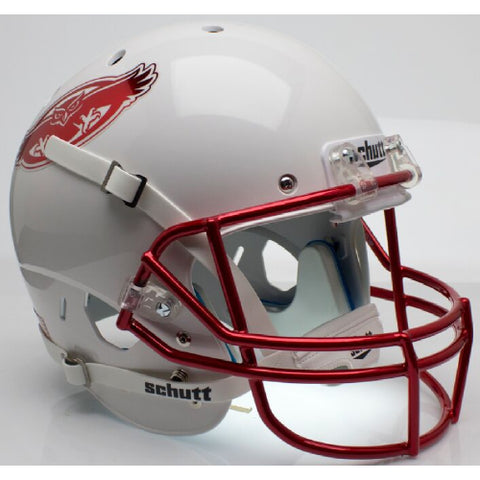 Florida Atlantic Owls White with Chrome Facemask Schutt XP Replica Helmet - Alternate 2