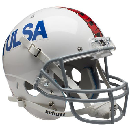 Tulsa Golden Hurricane White Schutt XP Replica Helmet - Alternate 2