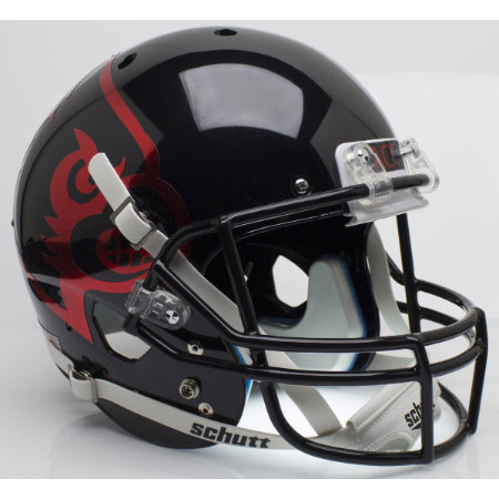 Louisville Cardinals Black Schutt XP Replica Helmet - Alternate 2