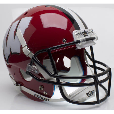 Wisconsin Badgers Red with Black Mask Schutt XP Replica Helmet - Alternate 2
