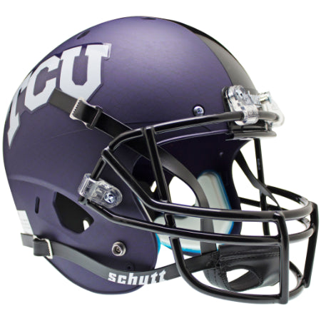 TCU Horned Frogs Purple Aqua Tech Schutt XP Replica Helmet - Alternate 2