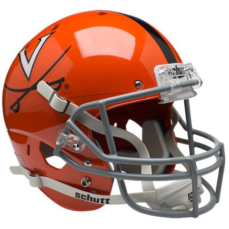 Virginia Cavaliers Orange with Stripe Schutt XP Replica Helmet - Alternate 2