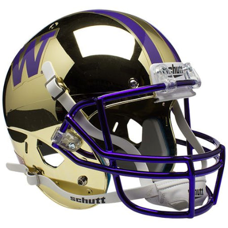 Washington Huskies Chrome Gold Schutt XP Replica Helmet - Alternate 2