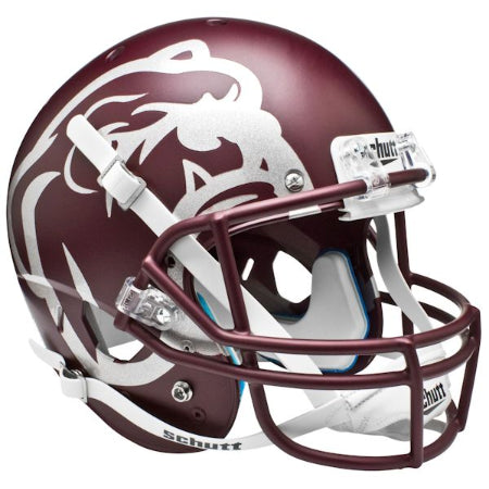 Mississippi State Bulldogs Matte Maroon Aqua Tech Schutt XP Replica Helmet - Alternate 2