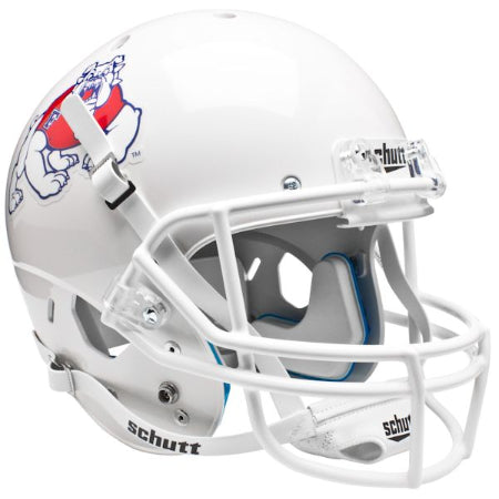Fresno State Bulldogs White Schutt XP Replica Helmet - Alternate 2