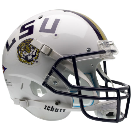 LSU Tigers White Schutt XP Replica Helmet - Alternate 2