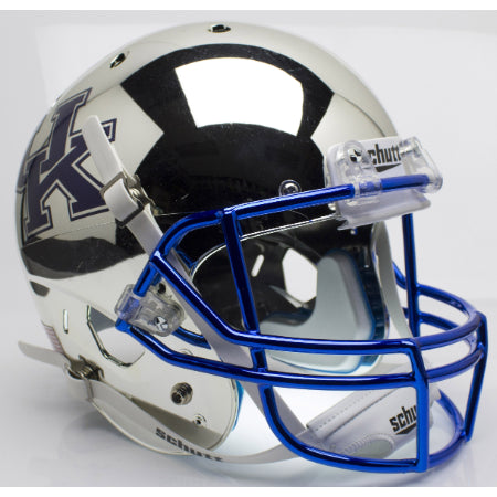 Kentucky Wildcats Chrome Silver Schutt XP Replica Helmet - Alternate 2
