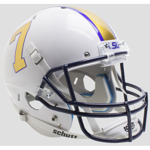 LSU Tigers Gridiron Gold Schutt XP Replica Helmet - Alternate 3