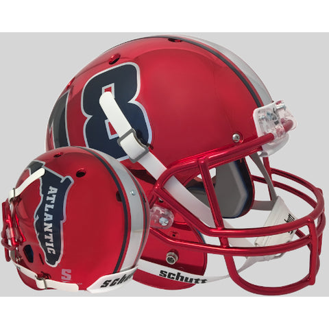 Florida Atlantic Owls Red 18 Chrome Schutt XP Replica Helmet - Alternate 1
