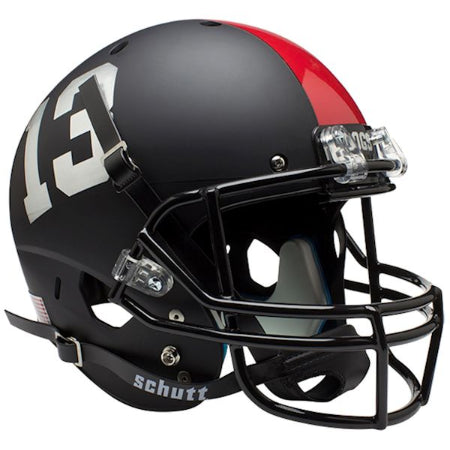 Fresno State Bulldogs Matte Black Schutt XP Replica Helmet - Alternate 3