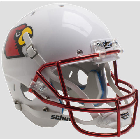 Louisville Cardinals Chrome Mask Schutt XP Replica Helmet - Alternate 3