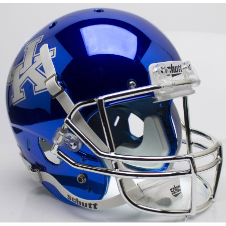 Kentucky Wildcats Chrome Blue Schutt XP Replica Helmet - Alternate 3