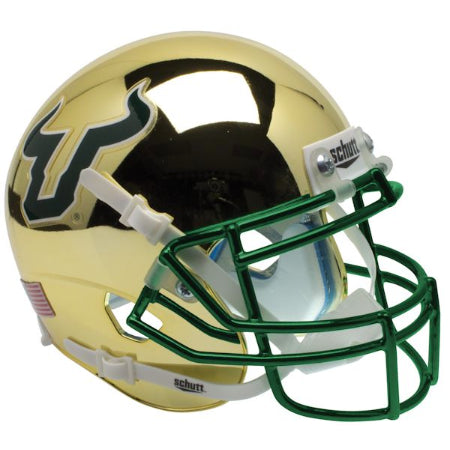 South Florida Bulls Chrome Schutt XP Replica Helmet - Alternate 3