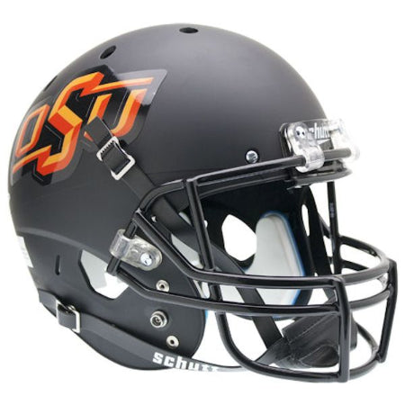 Oklahoma State Cowboys Matte Black Schutt XP Replica Helmet - Alternate 3