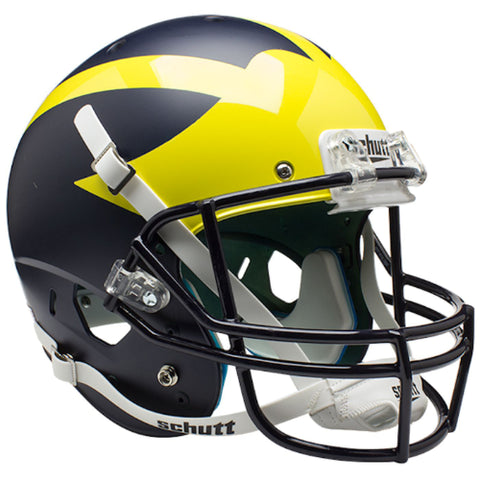 Michigan Wolverines Satin Blue Schutt XP Replica Helmet - Alternate 3