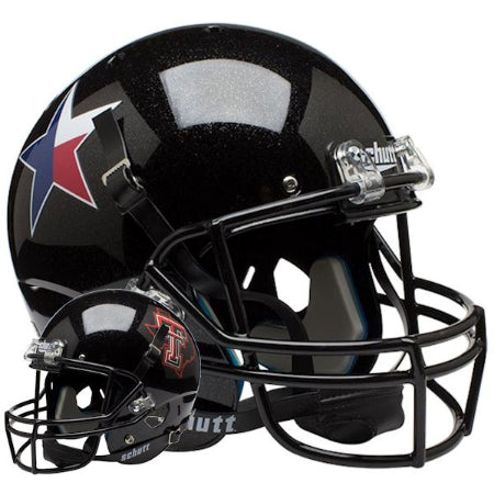Texas Tech Red Raiders Star & State Logo Schutt XP Replica Helmet - Alternate 3