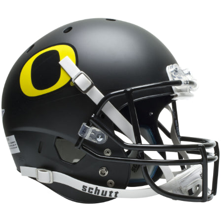 Oregon Ducks Matte Black Schutt XP Replica Helmet - Alternate 3