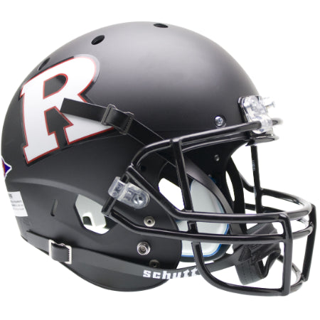 Rutgers Scarlet Knights Matte Black White R Schutt XP Replica Helmet - Alternate 3