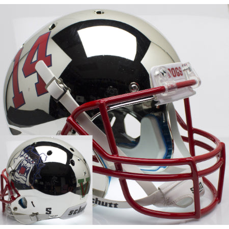 Fresno State Bulldogs Chrome Schutt XP Replica Helmet - Alternate 4