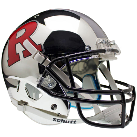 Rutgers Scarlet Knights Chrome Red R & Silver Stripe Schutt XP Replica Helmet - Alternate 4