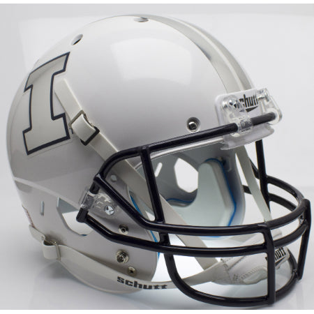 Illinois Fighting Illini White Schutt XP Replica Helmet - Alternate 4