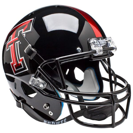 Texas Tech Red Raiders Chrome Logo Schutt XP Replica Helmet - Alternate 4