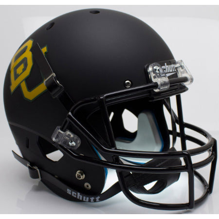 Baylor Bears Matte Black Schutt XP Replica Helmet - Alternate 4
