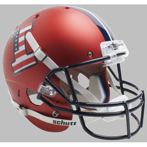 Illinois Fighting Illini Patriotic Logo Schutt XP Replica Helmet - Alternate 5