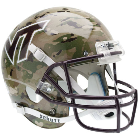 Virginia Tech Hokies Camo Schutt XP Replica Helmet - Alternate 5