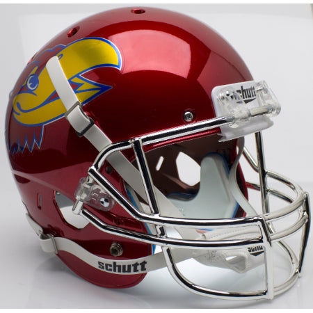 Kansas Jayhawks Chrome Schutt XP Replica Helmet - Alternate 5
