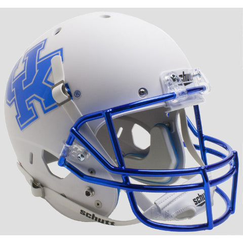 Kentucky Wildcats Matte White Schutt XP Replica Helmet - Alternate 6