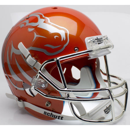 Boise State Broncos Orange with Chrome Mask Schutt XP Replica Helmet - Alternate 6