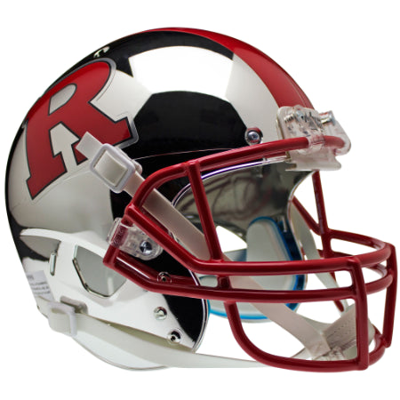 Rutgers Scarlet Knights Chrome Red R & Stripe Schutt XP Replica Helmet - Alternate 6