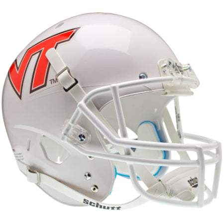 Virginia Tech Hokies White Schutt XP Replica Helmet - Alternate 7