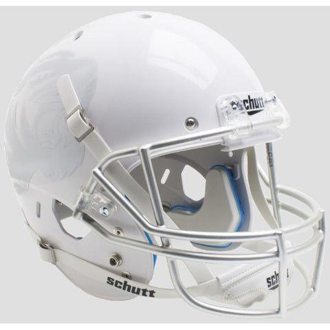 Missouri Tigers White with Silver Decals Schutt XP Replica Helmet - Alternate 7