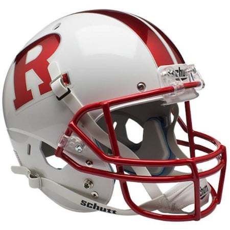Rutgers Scarlet Knights Chrome Red R Schutt XP Replica Helmet - Alternate 7