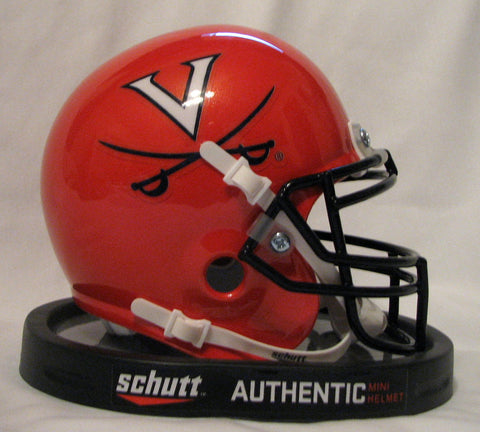 Virginia Cavaliers Orange Schutt Mini Helmet - Alternate 1