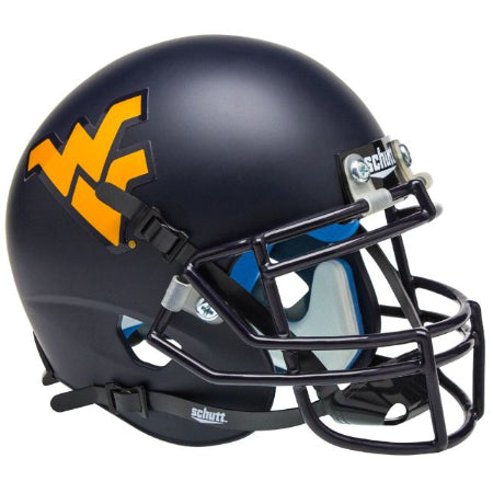 West Virginia Mountaineers Matte Navy Schutt XP Mini Helmet