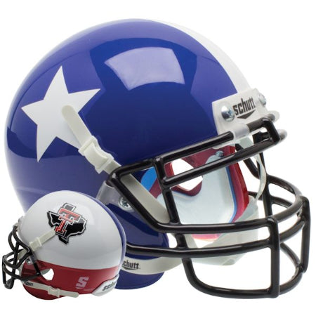 Texas Tech Red Raiders Star and State Logo Schutt XP Mini Helmet - Alternate 10